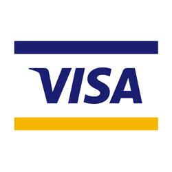 Wir akzeptieren Visa als Zahlungsart.